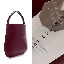 ZARA Limited Edition Pure Leather Maroon Burgundy Large Tote Bag Handbag Shopper