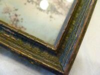 ANTIQUE 8 X 10 CARVED WOOD Photo PICTURE FRAME Cherry Blossom TINTED ART PRINT