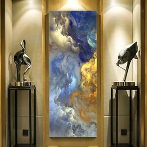 WANGART Abstract Colors Unreal Canvas Poster Blue Landscape Wall Art Painting Li
