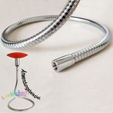 Lichthalterschlauch Schwanenhals, MS-verchromt, formbar 13x900mm M10x1