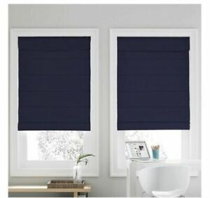 Real Simple Cordless Roman Cellular 31-Inch x 72-Inch Shade in Navy