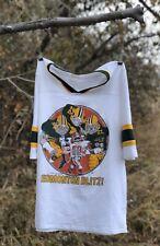 "Vintage CFL Eskimos Football ""Edmonton Blitz""  Tackling Stampeder Jersey Shirt"