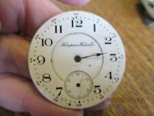 """PORCELAIN WATCH FACE WALTHAM WATCH CO 1 5/8"""" WITH HOUR HAND"""