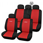 Housses de Siège Rouge Noir 1/2 1/3 2/3 pour Fiat Punto - 148