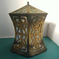 Antique Curve Slag Glass Art Nouveau Shade Ceiling Pendant Light Fixture Hall