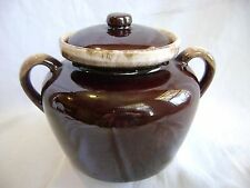 McCOY #1242 BROWN DRIP BEAN POT OR COOKIE JAR OVENPROOF LANCASTER COLONY USA