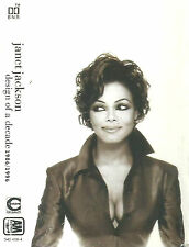 Janet Jackson ‎Design Of A Decade 1986 / 1996 CASSETTE ALBUM RnB/Swing Electro