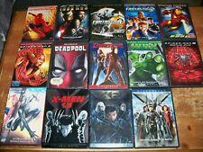 Lot Of 14 MARVEL DVDs -- Spider-Man / Hulk / Deadpool / X-Men / Fantastic 4