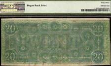 UNC 1864 $20 CONFEDERATE STATES CURRENCY NOTE MONEY BOGUS BACK PRINT T-67 PMG 63