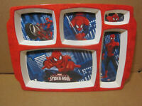 "Ultimate Spider-Man Melamine 12"" Tray Divided Marvel Comics Plate Plastic Dish"