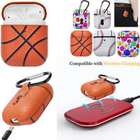 New PC+PU Leather Case Cover Protective For Apple AirPods 1st &2nd Charging Case
