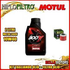 KIT TAGLIANDO 2LT OLIO MOTUL 300V 10W40 HONDA CRF450 R-3,4,5,6,7,8 450CC 2003-20