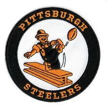 "🏈 3.5"" PITTSBURGH STEELERS Retro Steely McBeam Iron-on Football JERSEY PATCH!"