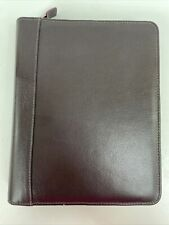 Franklin Covey Quest Classic Zip Planner Binder Faux Leather Burgundy With Extras