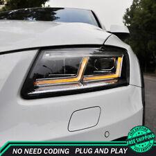 For Audi Q5 Headlight Assemblies 2009-2018 HID Xenon Beam Projector LED DRL