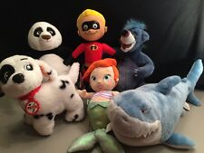 HUGE Lot Of Disney Plush Patch Panda PO Dash Baloo Ariel Bruce