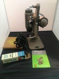 Revere Model 85 Standard 8mm Projector All Original Working Motor/Lamp w/Case