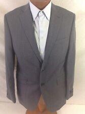 Saks Fifth Avenue Trim-Fit Mid-Gray 2BT Via Spiga Wool Suit 40S/34 EU 50C