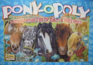 Pony-Opoly Edition Board Game Replacement Parts & Pieces 2004 Horse Monopoly