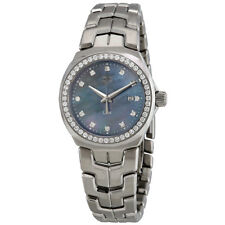 Tag Heuer Link Blue Mother of Pearl Diamond Dial Ladies Watch WBC1319.BA0600