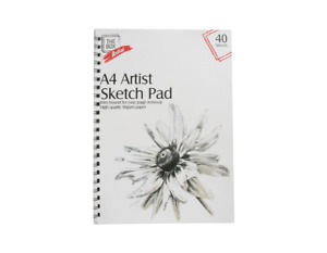 A4 Sketch Pad Book Sketching Drawing Doodling Artist White Paper Art
