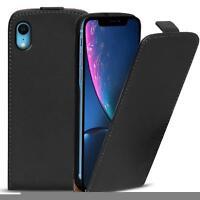 Flip Case Apple iPhone XR Hülle Pu Leder Klapphülle Handy Tasche Cover Schwarz