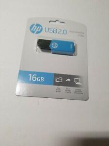 HP v150w USB 2.0 Flash Drive, 16GB, Blue Single  New