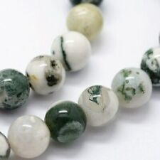 Natural Tree Agate Gemstone Loose Beads Round 6mm