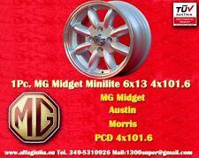 1 Cerchio MG Midget  Minilite 6x13 PCD 4x101.6 N.1 Wheel Felge Llanta Jante TUV