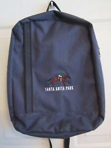 SANTA ANITA PARK BACKPACK - DARK BLUE, ZIP AROUND