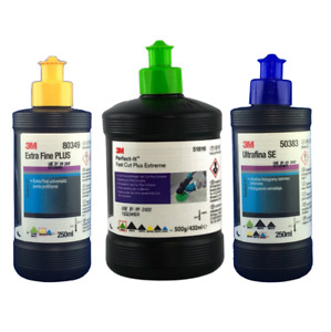 Kit de Lustrage 3M Perfect-It - 51816 / 80349 / 50383 - 2 x 250 ml + 1x 432 ml