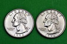 1996 P & D  BU Mint State Washington US Quarters  ( 2 Coins )