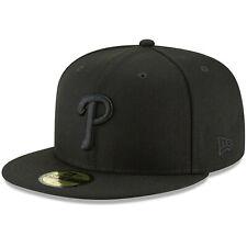 Philadelphia Phillies New Era Basic 59FIFTY Fitted Hat - Black/Black