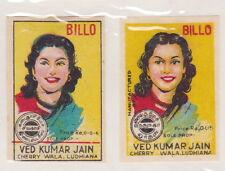 Anciennes étiquettes allumettes Inde  BN21411 Femme Billo