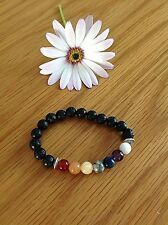 YOGA CHAKRA BRACELET. MADE IN THE UK WITH LOVE. LAVA STONE AND GEM STONES.