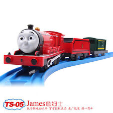 TOMY TRACKMASTER THOMAS & FRIENDS TS-05 JAMES WITH 2 TRUCKS MOTORIZED TRAIN