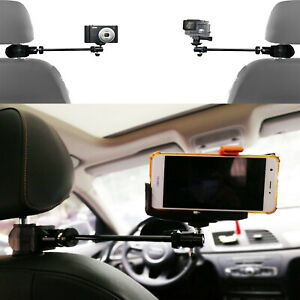 Video Camera Car Headrest Mount suitable for GoPro Camcorders & more Smartphones