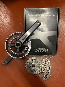 Shimano XTR M970 Chainset + Spec TA Chainrings + Chain + XT Cassette + Fit Tools