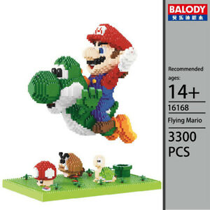 3300 Pcs Mini Blocks Building Adult Kids Diy Toy Flying Super Mario Yoshi Scenes