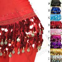 Belly Dance Coin Belt Hip Scarf Skirt Wrap Dancing Costume Sequin Waistband