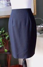 Talbots Petites Black Wool Lined Pencil Skirt PP MINT