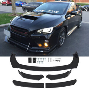 4Pcs Car Black Front Bumper Lip Spoiler For Subaru WRX STI BRZ Impreza GC8 G3 V1