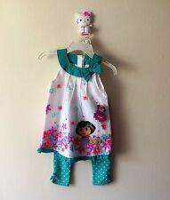 Nickelodeon Dora the Expoler Summer Tunic & Capri Set - Girls Size:4(3-4 years)