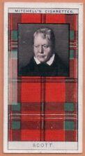 Scott Family Clan Celtic Tartan Pattern Scotland Kilt c90 Y/O Trade Ad Card
