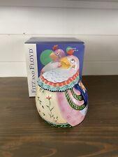 Fitz And Floyd Gypsy Chicks Cookie Jar With Original Box