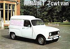 Renault 4 Van 7cwt 1974-75 UK Market Foldout Sales Brochure