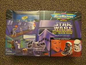 STAR WARS MICRO MACHINES STORMTROOPER DEATH STAR SET GALOOB #65814 SEALED