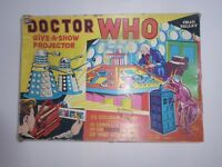 Doctor Who Give A Show projector, complete,working very rare! 1965 Chad Valley