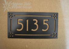 Address Sign Arts and Crafts Metal Address Sign 5 Number Black