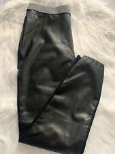 Roaman's Women's Medium 14/16 Black Faux Leather Legging/Pants